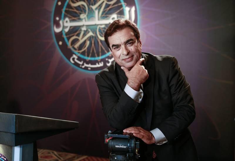 Dubai, U.A.E., September 17, 2015.  Who wants to be a Millionaire host George Kordahi.   Victor Besa For The National. *** Local Caption ***  VB_170915_George Kordahi-5.jpg
