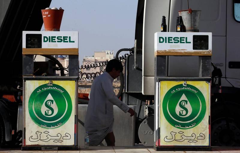A man walks at a petrol station in Riyadh, Saudi Arabia October 8, 2017. REUTERS/Faisal Al Nasser