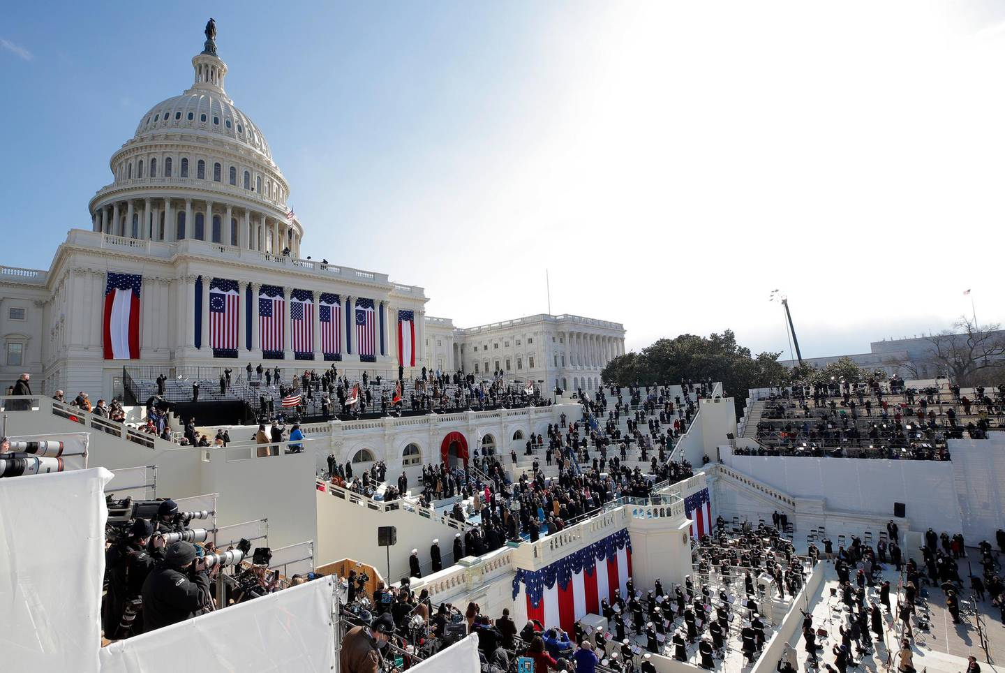 General view during the inauguration of Joe Biden as the 46th President of the United States on the West Front of the U.S. Capitol in Washington, U.S., January 20, 2021. REUTERS/Brendan McDermid