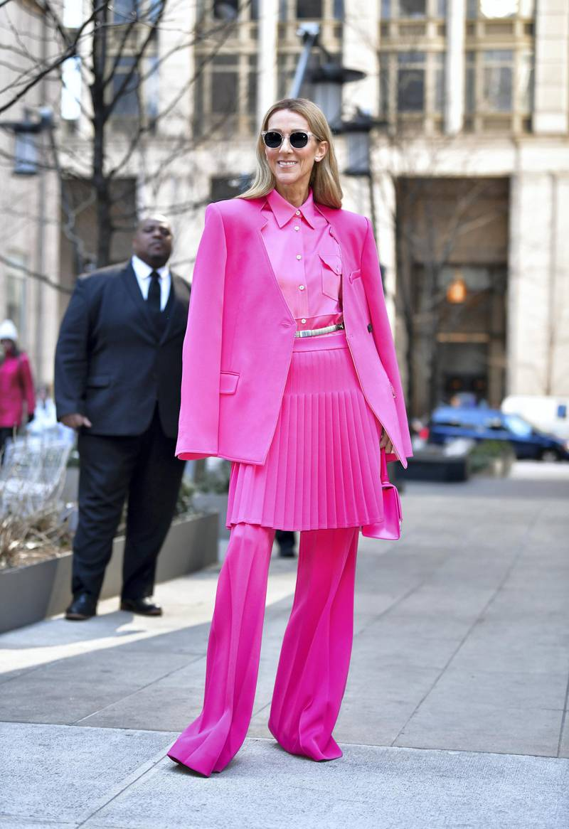 NEW YORK, NY - MARCH 07:  Celine Dion seen on the streets of Lower Manhattan on March 7, 2020 in New York City.  (Photo by James Devaney/GC Images)
