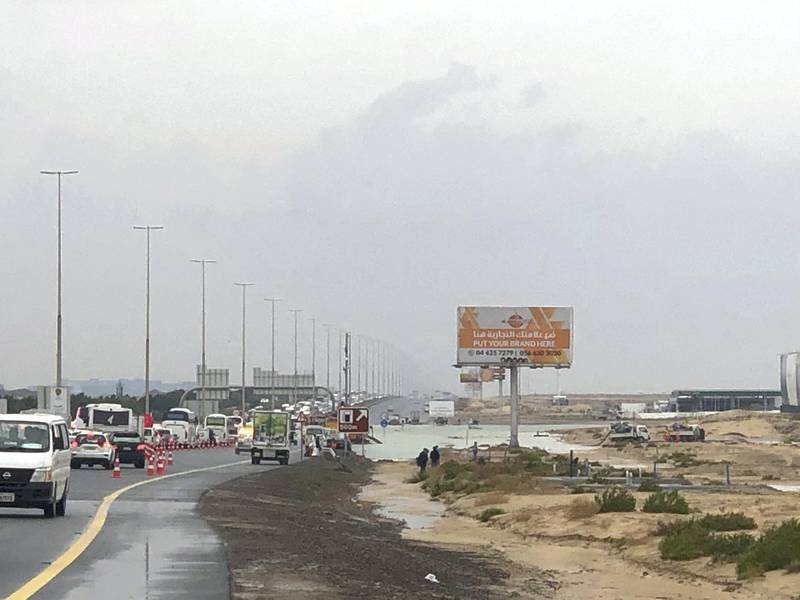 Traffic on Sheikh Zayed Road going to Abu Dhabi. Ramola Talwar / The National