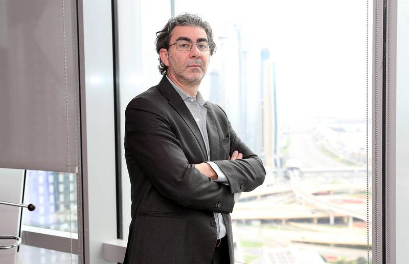 DUBAI , UNITED ARAB EMIRATES , Jan 06  – 2020 :- Sar Haffar, CEO of MAG Group at his office in the Emirates Financial Towers near DIFC in Dubai. ( Pawan Singh / The National ) For Business. Story by Fareed Rahman