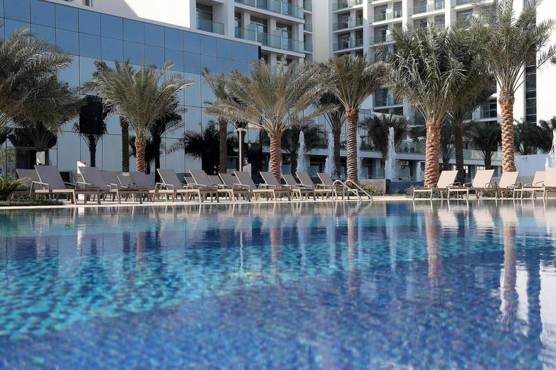 DUBAI, UNITED ARAB EMIRATES, December 10 – View of the pool area at the RIU hotel on Deira Island in Dubai. (Pawan Singh / The National) For News/Lifestyle/Online/Instagram. Story by Kelly