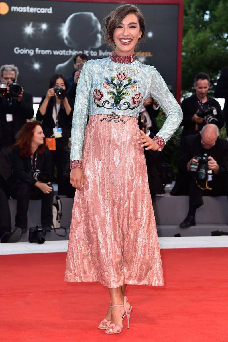 VENICE, ITALY - SEPTEMBER 03:  Stella Egitto walks the red carpet ahead of the 'The Leisure Seeker (Ella & John)' screening during the 74th Venice Film Festival at Sala Grande on September 3, 2017 in Venice, Italy.  (Photo by Pascal Le Segretain/Getty Images)