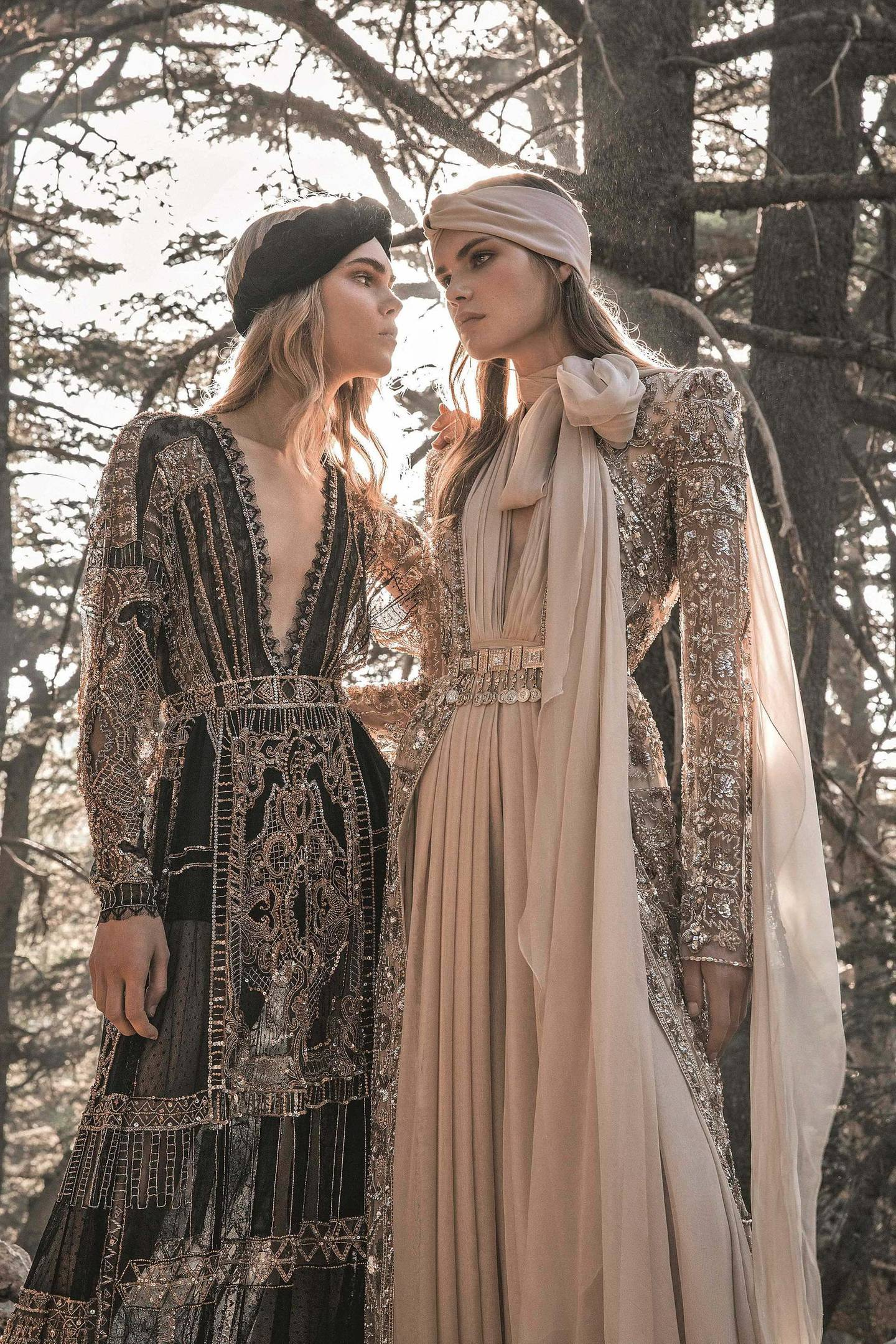 AW19 haute couture collection at Barouk Natural Reserve. Photo by M Seif