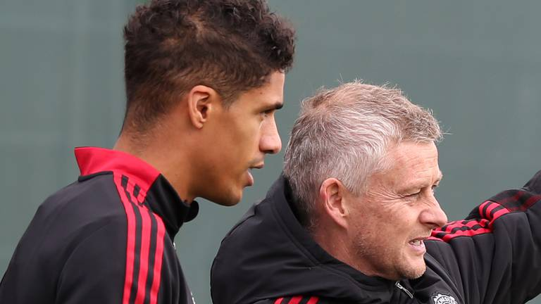 An image that illustrates this article Manchester United stars in training as pressure mounts on Solskjaer