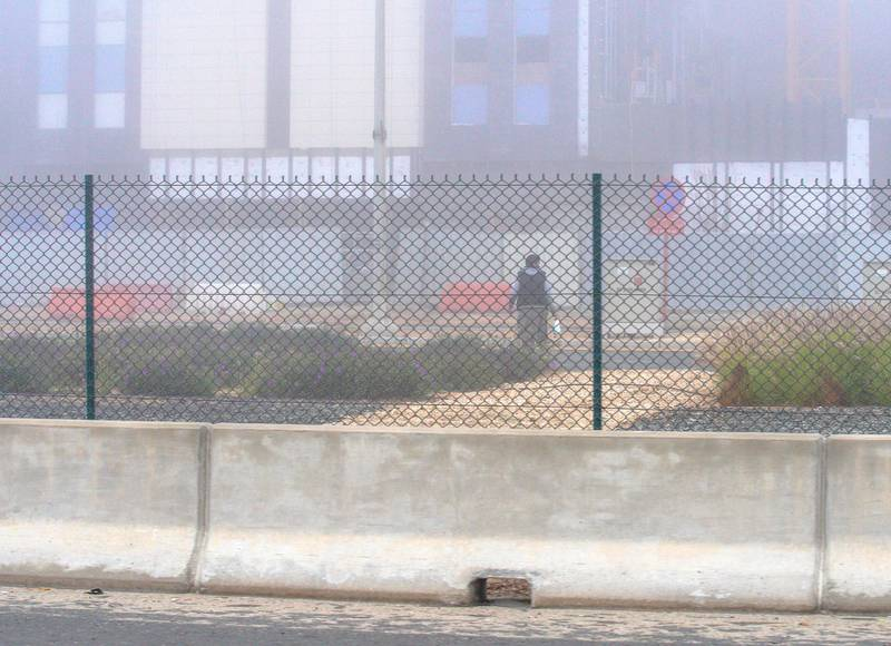 Abu Dhabi, United Arab Emirates, January 19, 2021.   Fog along the E10 highway Abu Dhabi.Victor Besa/The National Section:  NA/Weather