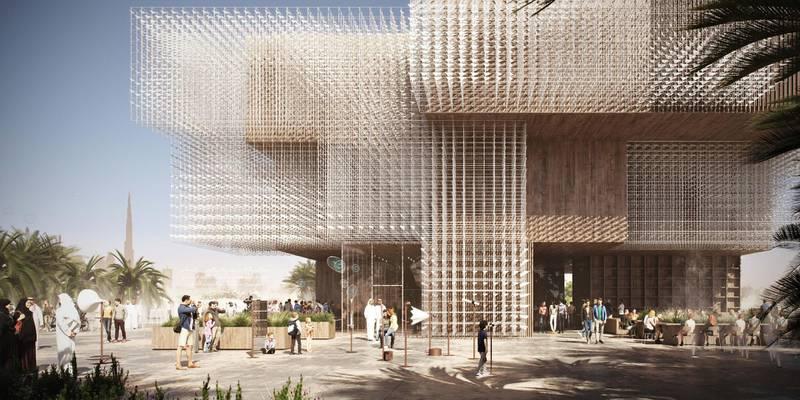 Rendering of Poland's Pavilion at Expo 2020 Dubai. Courtesy: Poland Expo 2020 Dubai