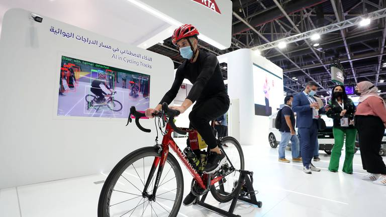 An image that illustrates this article Gitex 2021: High-tech cameras will detect cyclists without helmets on Dubai bike tracks