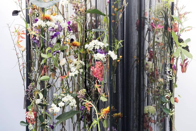 DUBAI, UNITED ARAB EMIRATES - Feb 22, 2018.Alex Choi, South Korea, floral arrangement at Dubai International Flower Festival.(Photo: Reem Mohammed/ The National)Reporter: Melanie HuntSection: WK