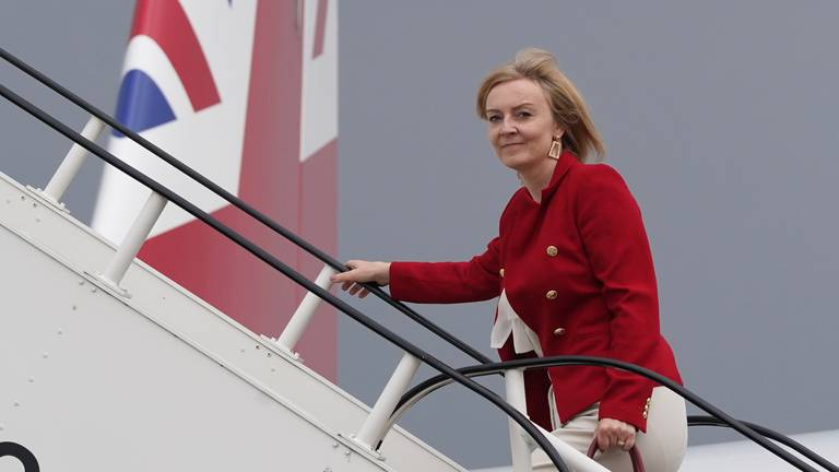 An image that illustrates this article UK's Liz Truss visits India to push for ambitious climate pledges