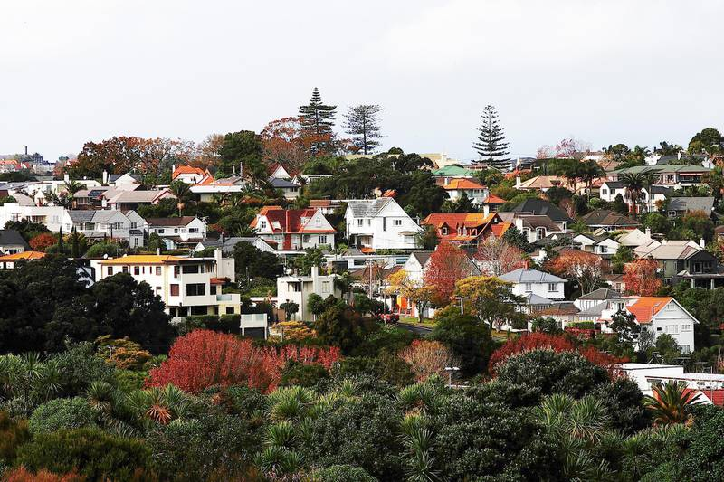 AUCKLAND, NEW ZEALAND - JUNE 02:  A general view of housing on June 2, 2017 in Auckland, New Zealand. New date from Land Information NZ shows that around 82 per cent of houses in the New Zealand are being bought by New Zealand residents or citizens, with another 16 per cent of sales to businesses or corporate entities, almost all of which were wholly owned by New Zealanders. Around 2 per cent of housing was purchased by owners without NZ citizenship or residency, with Chinese and Australians making up the biggest share of off-shore property buyers.  (Photo by Hannah Peters/Getty Images)