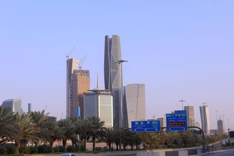 Buildings at the King Abdullah Financial District in Riyadh, Saudi Arabia,  Photographer: Maya Anwar/Bloomberg