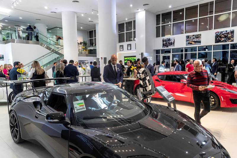 ABU DHABI, UNITED ARAB EMIRATES. 24 APRIL 2019. Opening of the new Lotus car showroom in Abu Dhabi. (Photo: Antonie Robertson/The National) Journalist: None. Section: National.
