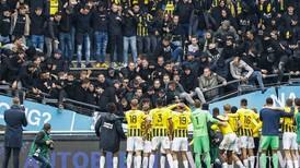 Part of stand at Dutch club collapses as Vitesse Arnhem fans celebrate - in pictures