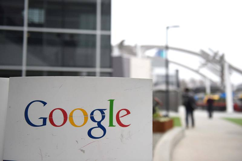 (FILES) In this file photo the Google logo is seen on the Google campus in Mountain View, California, on February 20, 2015.  A massive outage knocked Google services including Gmail and video sharing platform YouTube offline across much of the globe on December 14, 2020. Hitting in the middle of the European workday, the issues frustrated users who immediately took to social media to air their grievances, even though the internet giant said the problem was resolved in 45 minutes.  / AFP / SUSANA BATES