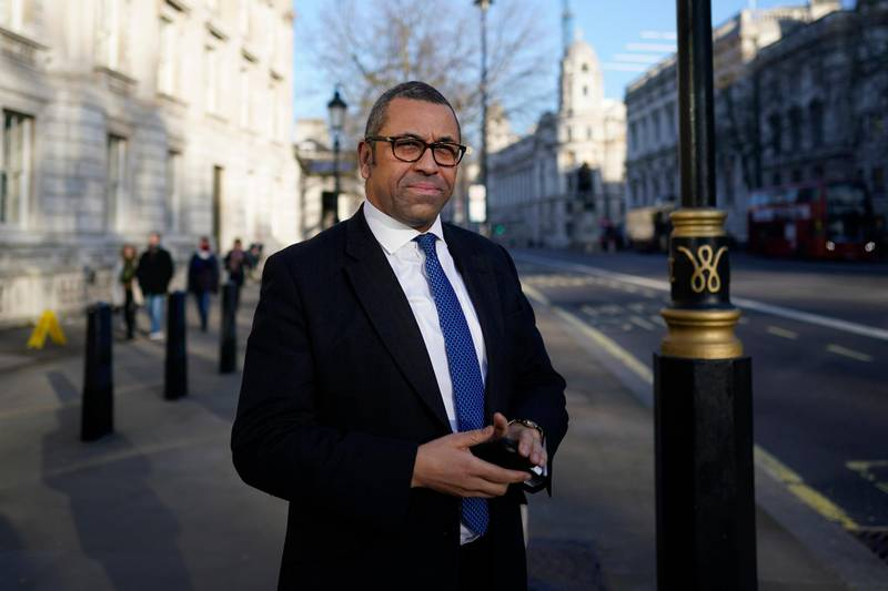 epa08197687 Conservative Party Chairman James Cleverly leaves after a cabinet meeting in Whitehall in London, Britain, 06 February 2020. British Prime Minister Boris Johnson is expected to reshuffle his cabinet next week.  EPA-EFE/WILL OLIVER