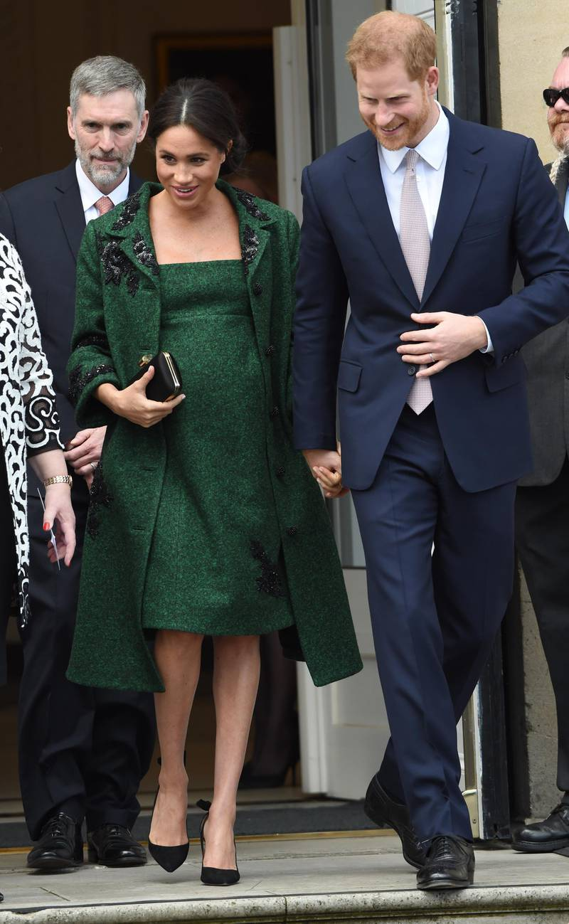 LONDON, ENGLAND - MARCH 11: Meghan, Duchess Of Sussex and Harry, Duke of Sussex attend a Commonwealth Day Youth Event at Canada House on March 11, 2019 in London, England. The event will showcased and celebrated the diverse community of young Canadians living in London and around the UK. (Photo by Stuart C. Wilson/Getty Images)