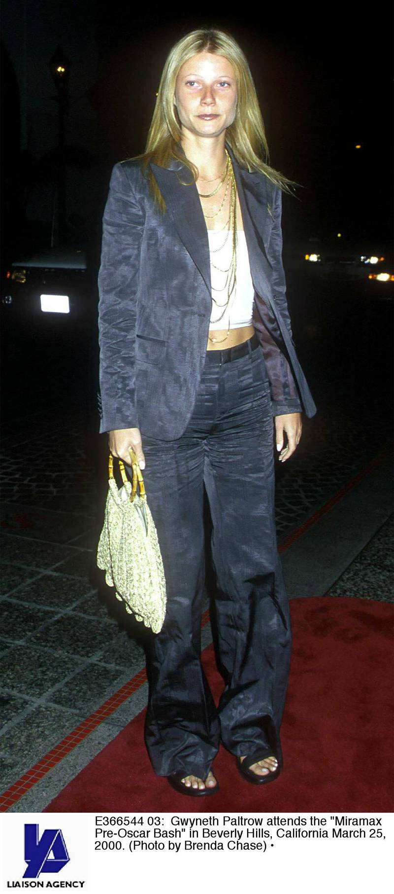 """E366544 03: Gwyneth Paltrow attends the """"Miramax Pre-Oscar Bash"""" in Beverly Hills, California March 25, 2000. (Photo by Brenda Chase)"""