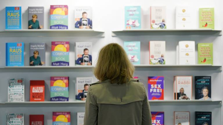 An image that illustrates this article First wave of pandemic novels hits Frankfurt fair, from Margaret Atwood and Jodi Picoult