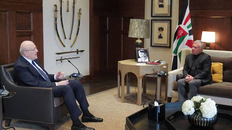 An image that illustrates this article Jordan's king promises support in meeting with Lebanon's PM