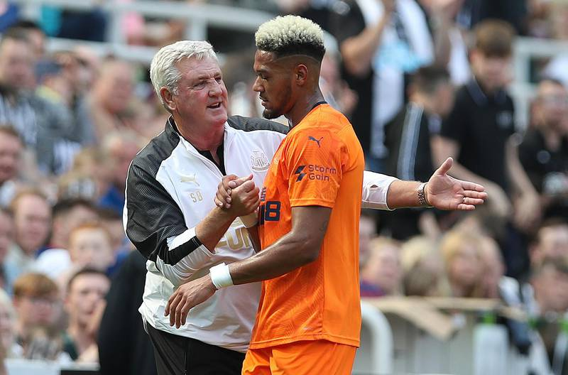 NEWCASTLE UPON TYNE, ENGLAND - AUGUST 03: during the Pre-Season Friendly match between Newcastle United and AS Saint - Etienne at St. James Park on August 03, 2019 in Newcastle upon Tyne, England. (Photo by Ian MacNicol/Getty Images)