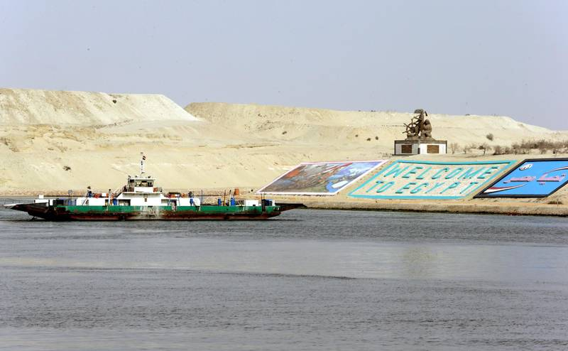 epa06511283 Egyptians use the ferry to cross the Suez Canal in Ismailia, 120km east of Cairo, 09 February 2018 (Issued 10 February 2018). Egyptian armed forces on 09 February announced the launch of a new major operation, dubbed ' Comprehensive Operation Sinai 2018' to confront terrorism in north and central Sinai and other parts of the country. On 10 February 2018 it was announced the ferry services between the east and west banks of the Suez Canal are on hold until further notice.  EPA/KHALED ELFIQI