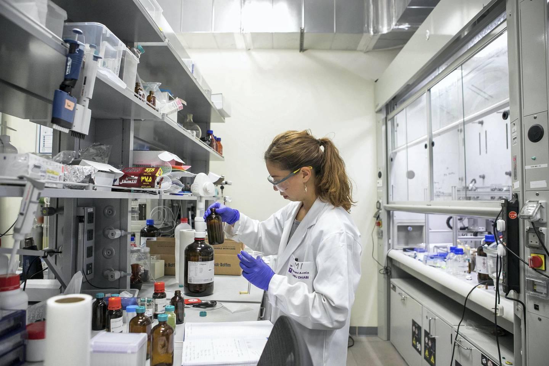 The Naumov Lab at NYUAD in Abu Dhabi, United Arab Emirates, Monday, February 5, 2018. MORE SUBSTANTIAL CAPTION TK (Credit: Kate Lord / New York University)