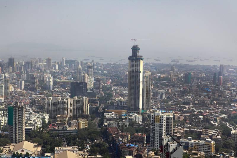 Mumbai,  INDIA- Aerial View of  Mumbai Skyline.(Subhash Sharma for The NATIONAL)