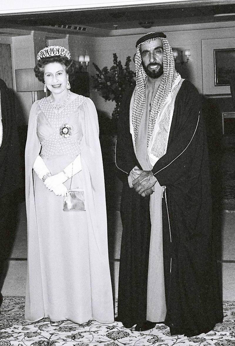 An image from the Itihad archive. Courtesy Al Itihad.Abu Dhabi, UAE. 1979. Queen Elizabeth II visit to UAE. *** Local Caption ***  000015.JPG