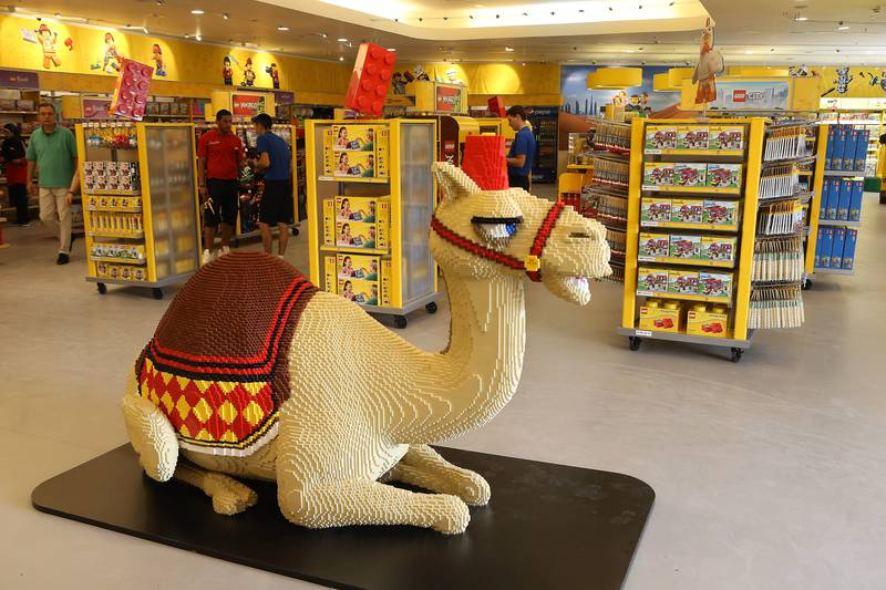 DUBAI , UNITED ARAB EMIRATES – Oct 31 , 2016 : Items on display at the Lego shop after the opening ceremony of Legoland Dubai in Dubai.  ( Pawan Singh / The National ) For News. Story by Nick Webster. ID No - 33930 *** Local Caption ***  PS3110- LEGOLAND27.jpg