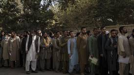 Hundreds line up at passport office in Kabul