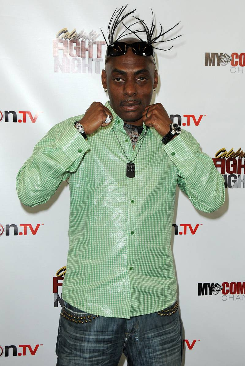 Mandatory Credit: Photo by Broadimage/Shutterstock (1452541ag) Coolio 'Celebrity Fight Night' Press Conference, Los Angeles, America - 26 Sep 2011