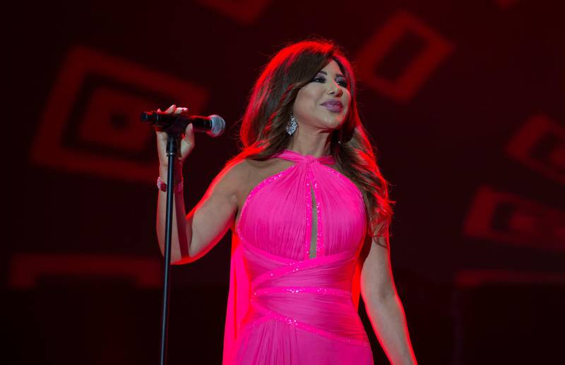 epa07682103 Lebanese singer Najwa Karam performs on stage during the 18th International Mawazine Music Festival in Rabat, Morocco, 28 June 2019, issued 2019. The festival will run from 21 June to 29 June 2019.  EPA-EFE/JALAL MORCHIDI