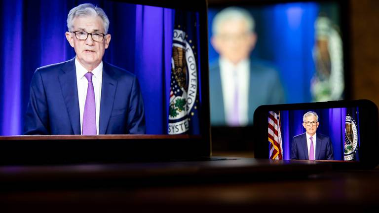 An image that illustrates this article US Fed's Powell says taper could start in November and finish mid-2022