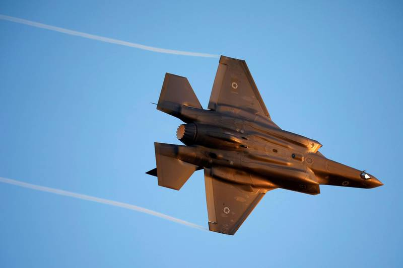 FILE PHOTO: Israeli Air Force F-35 flies during an aerial demonstration at a graduation ceremony for Israeli air force pilots at the Hatzerim air base in southern Israel June 27, 2019. REUTERS/Amir Cohen/File Photo