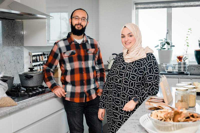 Ahmed Gatnash and Nadine Dahan. John Wellings for The National