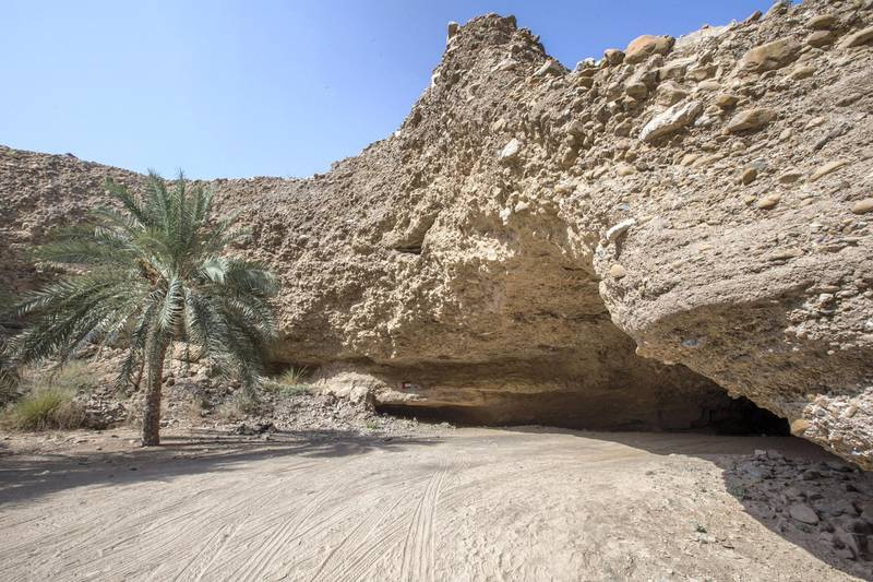 Sharjah, United Arab Emirates-  Al Daba cave at Al Nahwa Village in Sharjah.  Leslie Pableo for The National for Ruba Haza