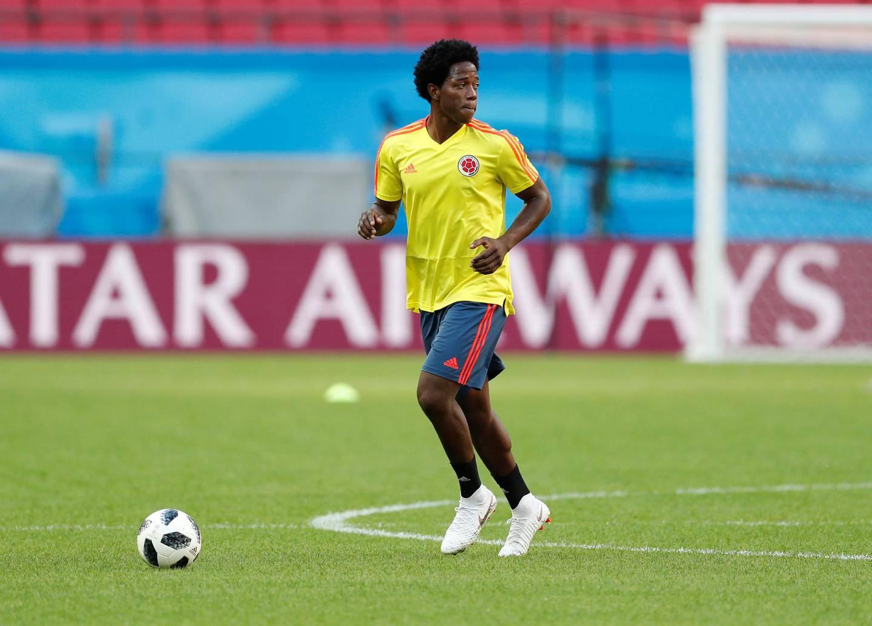 Soccer Football - World Cup - Colombia Training - Kazan Arena, Kazan, Russia - June 23, 2018   Colombia's Carlos Sanchez during training   REUTERS/John Sibley