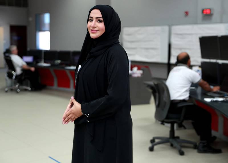 Abu Dhabi, United Arab Emirates, October 28, 2020.  Etihad Rail.  Haifa Al Shimmari, HR and Administration Director.  Victor Besa/The National Section:  NA Reporter:  Kelly Clarke