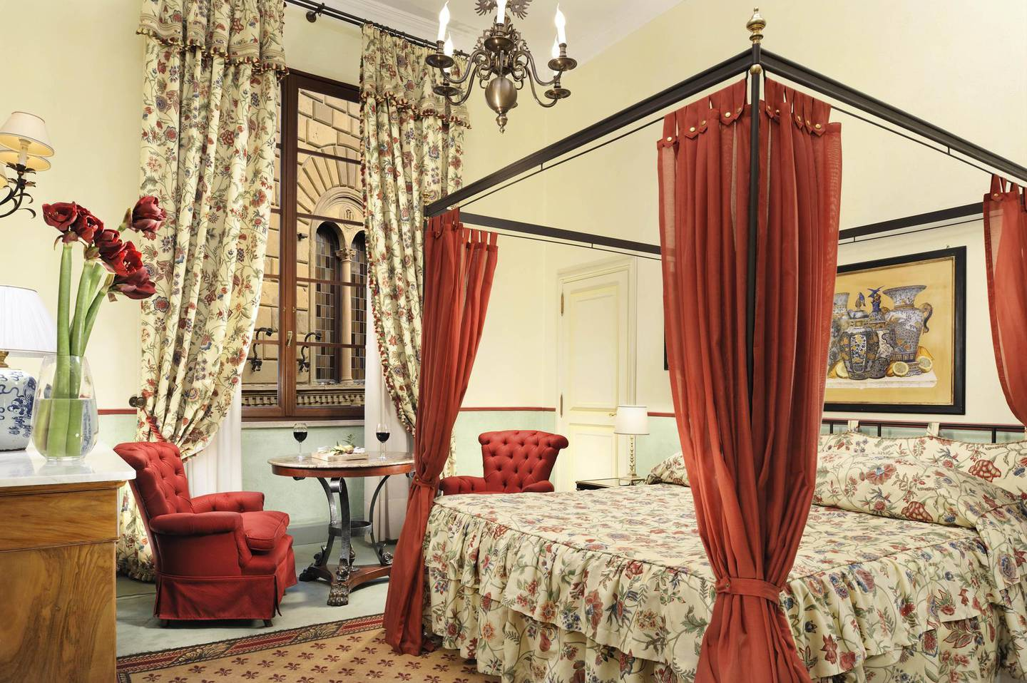Classic Double at Grand Hotel Continental Siena in Italy. Courtesy The Leading Hotels of the World