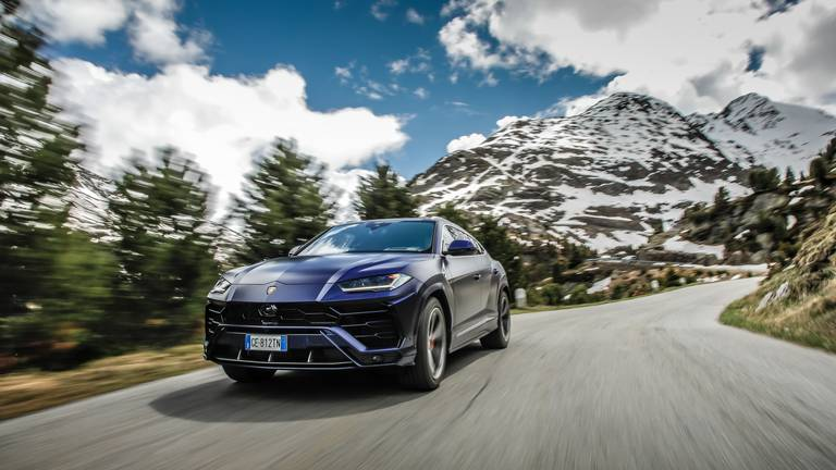 An image that illustrates this article The Lamborghini Urus proves its mettle in the Italian Alps