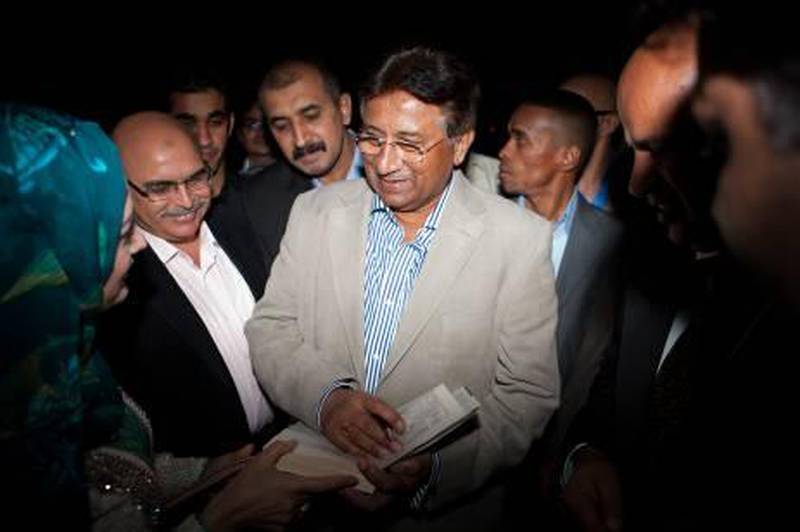 DUBAI, UAE (05/03/2011) Former president of Pakistan Pervez Musharraf announces his return to politics and his new political party at Emirates Hills, Dubai. (Callaghan Walsh / for The National)