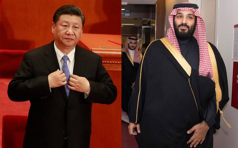 epa06710084 Chinese President Xi Jinping adjusts his attire during an event celebrating the 200th year anniversary of the birth of German philosopher Karl Marx at the Great Hall of the People (GHOP) in Beijing, China, 04 May 2018. EPA/HOW HWEE YOUNGSaudi Arabia's Crown Prince Mohammed bin Salman Al Saud is being escorted into a meeting at the United Nations, Tuesday, March 27, 2018. (Eskinder Debebe/United Nations via AP)