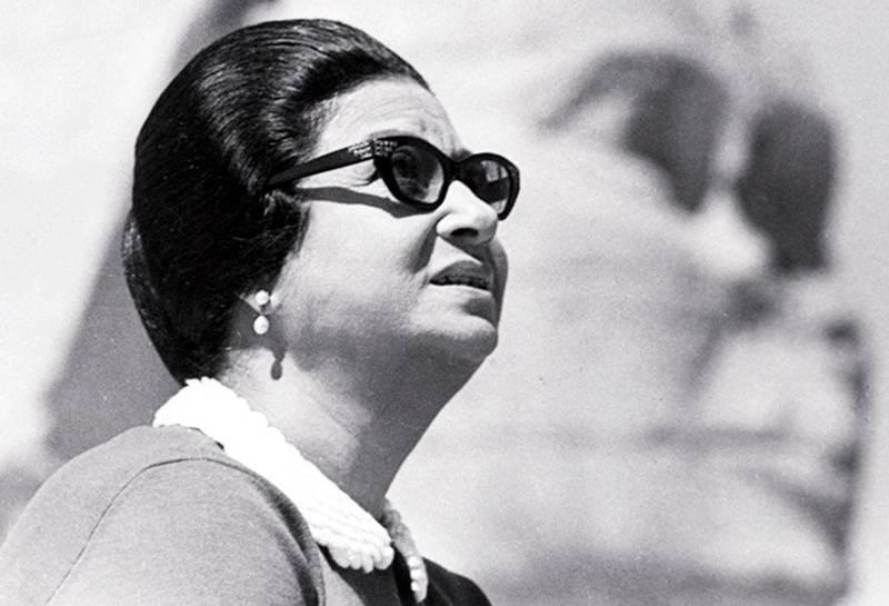 Umm Kulthum, Egyptian singer and performer.  Courtesy of Al Ittihad *** Local Caption ***  al20ap-cover-ummkalthum.jpg