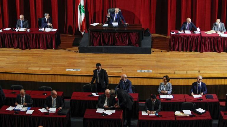 An image that illustrates this article Lebanese parliament confirms elections in March