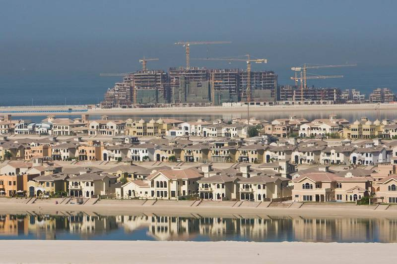 Pictures taken during a tour of Nakheel's luxurious residential complex 'Marina Residences', located at the tip of the trunk of the Palm Jumeirah, in Dubai, UAE, on November 9, 2009.