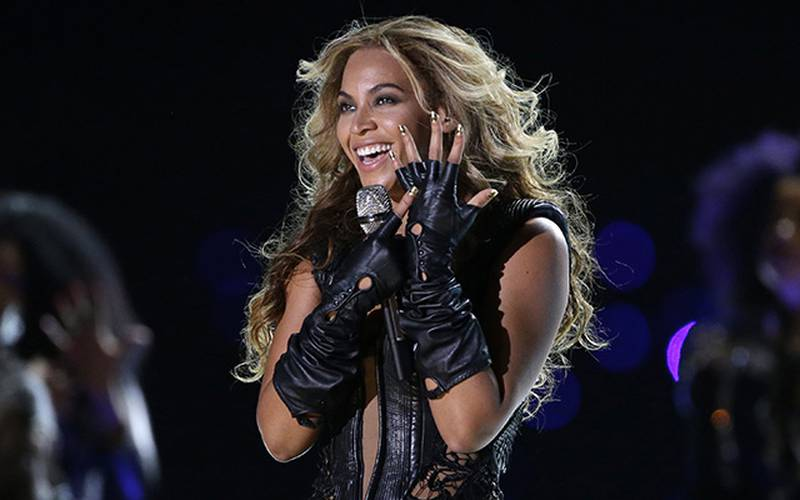 FILE - In this Feb. 3, 2013 file photo, Beyonce performs during the halftime show of  the NFL Super Bowl XLVII football game between the San Francisco 49ers and the Baltimore Ravens, in New Orleans.  The singer headlines at the 2013 Essence Music Festival, with other nightly concerts held in the Superdome to include, Maxwell, Jill Scott, Charlie Wilson, LL Cool J, New Edition, Emile Sande, Trey Songz, Janelle Monae and several others. The festival dates are July 4-7, 2013, in New Orleans. (AP Photo/Mark Humphrey, File)