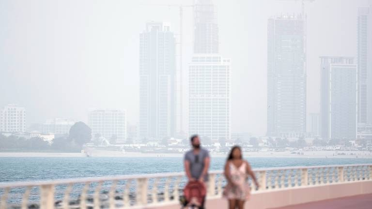 An image that illustrates this article UAE weather: fair and hazy with temperatures in the mid-30s