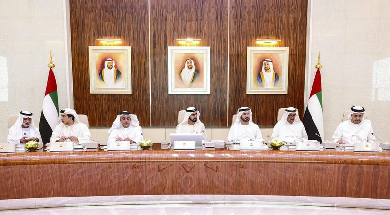 Sheikh Mohamed bin Rashid, Vice-President and Prime Minister of the UAE, Ruler of Dubai, announces new legislation approval at UAE Cabinet meeting on Wednesday evening says WAM.